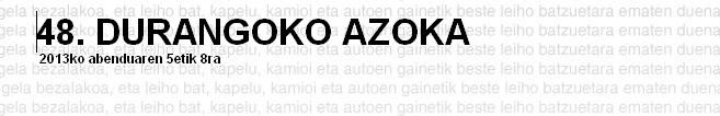 Durangoko  Azokako  ikasleen  eguna